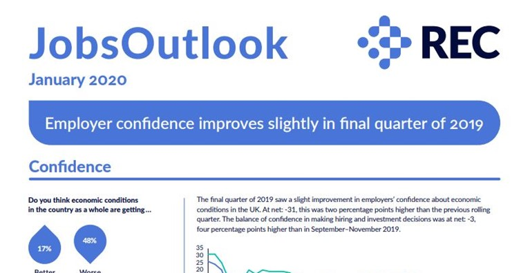 Jobs Outlook 2020 - Employer confidence improves
